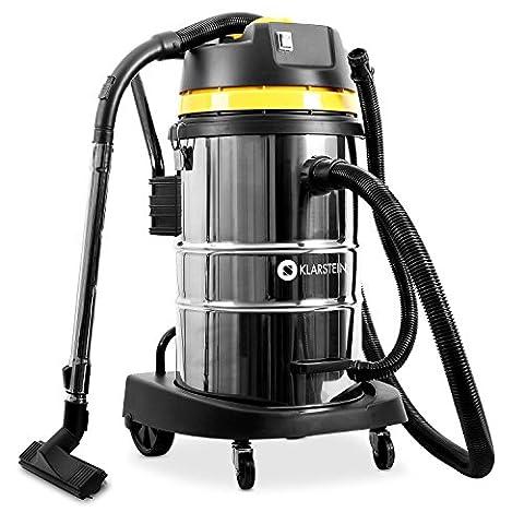 Klarstein IVC-50 Aspirateur industriel pour eau et poussière (tuyau d'aspiration de 3m, câble d'alimentation de 8m, accessoires, 50L, 2000W, filtre HEPA)