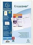 Exacompta - Réf 58309E - Un Protège Document KREACOVER Personnalisable en Polypro Rigide 8/10ème 24x32 60 Vues Incolore