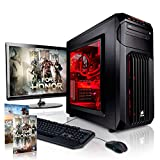 Megaport Gaming-PC Komplett-PC Intel Core i7-6700 4x 3.40GHz • 22' Full-HD Monitor +Tastatur+Maus...