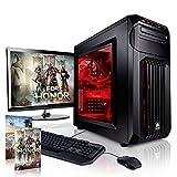 Megaport Gaming-PC Komplett-PC Intel Core i7-6700 4x 3.40GHz • 22' Full-HD Monitor +Tastatur+Maus • GTX1070 8GB • 16GB DDR4• Windows 10 • 1TB • WLAN gamer pc computer high end gaming pc komplettsystem