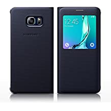 Troqueladora Samsung Galaxy S6 + S View Cover S-View Flip funda enjutos EF-CG928P interesanestas Samsung Galaxy S6 edge + Plus (SM-G928) - Disipador, compatible con Samsung Galaxy S6 edge+, color negro