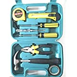 CHHELL 9 in 1 Hand Household and Electrical Repair Tool Kit Set with Storage Case