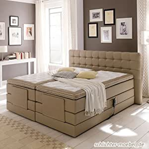 boxspringbett london inkl motor 200 x 200 cm k che haushalt. Black Bedroom Furniture Sets. Home Design Ideas