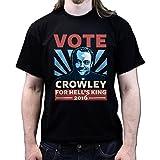 Vote Crowely For King Super Natural T-shirt, Größe:3XL;Farbe:Schwarz