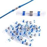 Conectores termocontraíbles Empalmes de Soldatura para Cables - Azul: 1,5-2,5 mm², 16-14AWG, 25 unidades