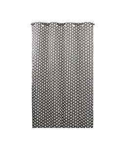 home stories 13393 rideau scandinave anthracite motif gom trique blanc 140x250cm oeillets. Black Bedroom Furniture Sets. Home Design Ideas