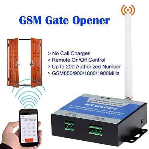 rtu5024portería de abrebotellas GSM Gate Opener Remote un/controlar gratis llamada SMS Guía soporte 850/900/1800/1900MHz negro negro
