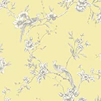 Yellow - 422804 - Chinoise - Floral - Bird - Arthouse Opera Wallpaper by Arthouse