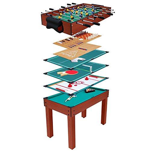 Spieletisch 9 in 1 / Multigame Tisch / Multifunktionsspieltisch / Multifunktionstisch / Kicker / Kickertisch / Billard / Tischtennis