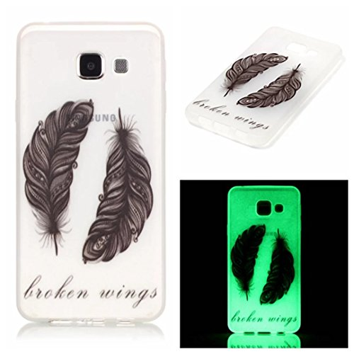 Vandot Belle de Ultra-Fine TPU Silicone Shell Housse Coque Etui Case Cover Pour Samsung Galaxy A3 2016 A310 Ultra- Mince Thin Slim Universelle Couverture Effacer Clair transparent Coquille - Dreamcatc Y-Feather Plume