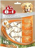 8in1 Delights Chicken Kauknochen XS, gesunder Kausnack für sehr kleine Hunde, 14 Stück (168 g)