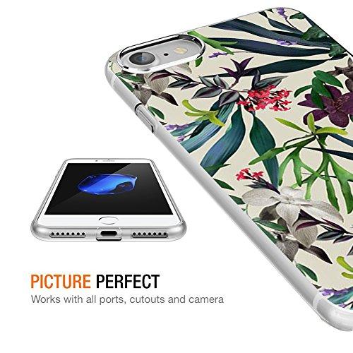 Cover iPhone 8 Plus, Cover iPhone 7 Plus, Eouine Ultra Slim Protective Cover Trasparente con Disegni, Morbido Antiurto 3d Cartoon Pattern Gel Custodia Bumper Case in TPU Silicone per Apple iPhone 7 Pl Bambù e fiore