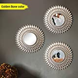 #5: TIED RIBBONS Antique Vintage Style Home Decorative Wall Mirrors Set for Bathroom Bedroom Home Décor Living Room(24 cm X 24 cm, Plastic Framed Mirror)