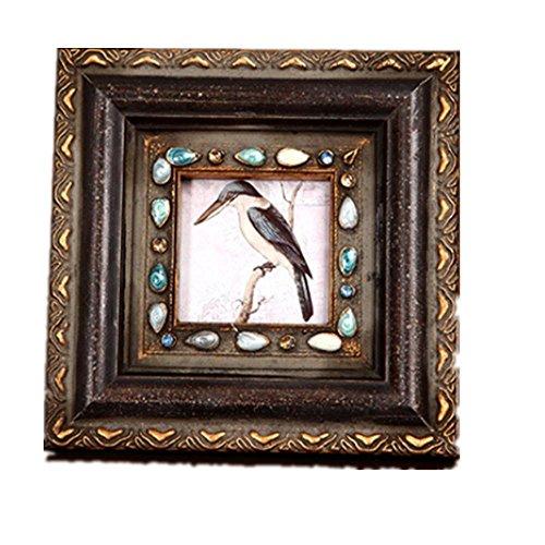 Preisvergleich Produktbild Xiuxiandianju Europäischen Stil kreative Vintage Foto Frame hohe Grade solide Holz Bild Frames große Home Decor Baby Geschenk Hochzeit Gift(3 inch,6 inch) , 3 inch
