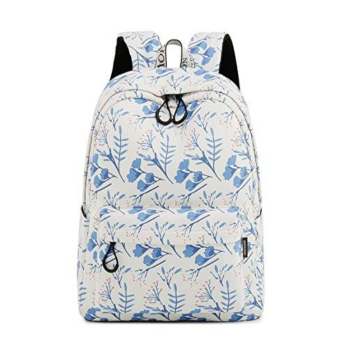 Freizeit Schüler Rucksack Süßes Muster Schule Bücher Tasche für Mädchen (Weiße Blume) ()