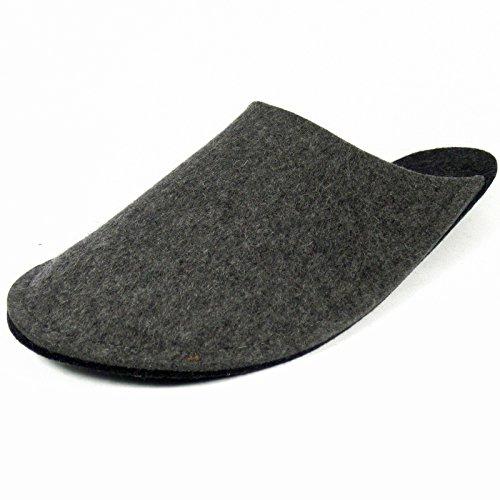 Chaussons Pantoufles de Clients invités pliables avec/sans ABS unisexe adulte Grau ohne ABS