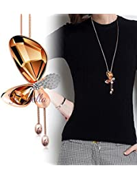 YouBella Fashion Jewellery Stylish Party Wear Crystal Long Western Pendant Necklace Jewellery for Women and Girls