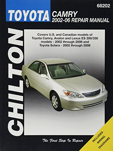chiltons-toyota-camry-2002-06-repair-manual-cover-us-ans-canadian-models-of-toyata-camry-avalon-and-