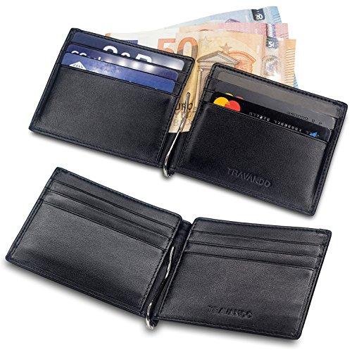 travando portefeuille avec pince billets vienna etui rfid blocage contre piratage bancaire. Black Bedroom Furniture Sets. Home Design Ideas