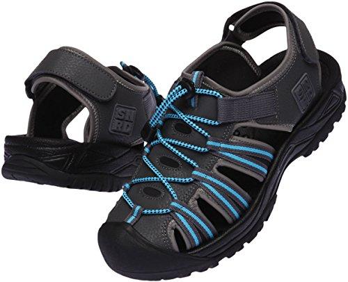 SNRD 210 Casual mixte de suivi à bout fermé Outdoor Sandals Gris - Gris foncé