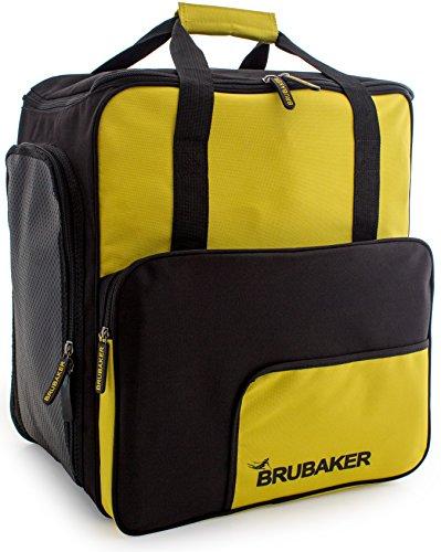 BRUBAKER 'Super Function 2.0' borsa per scarponi da sci con scomparto casco colore giallo / nero