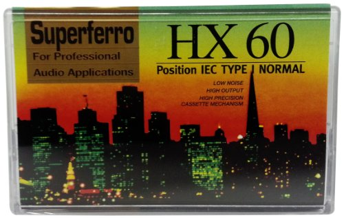 Audio Cassette C 60 HX Superferro; 10er Packung; 60 Minuten; Made in Austria; Low Noise; Leercassette; Audio - Leerkassetten [Musikkassette] (Gewicht Test)
