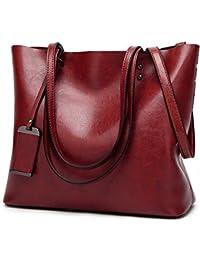Womens Soft pelle borse grandi capacità retrò Vintage Top-manico casuale  Tote borse ... 99046826bda