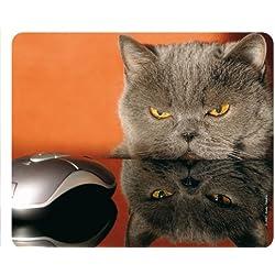 """""""KATZE UND MAUS - GRUMPY CAT"""" (MOTIV 51 - KATZEN): Lustiges Tier-Mousepad / Mauspad - Qualitäts-Mousepad aus extrem reissfestem Spezialkautschuk mit stark haftender Unterseite für optimalen Halt - kompatibel für alle Maustypen"""
