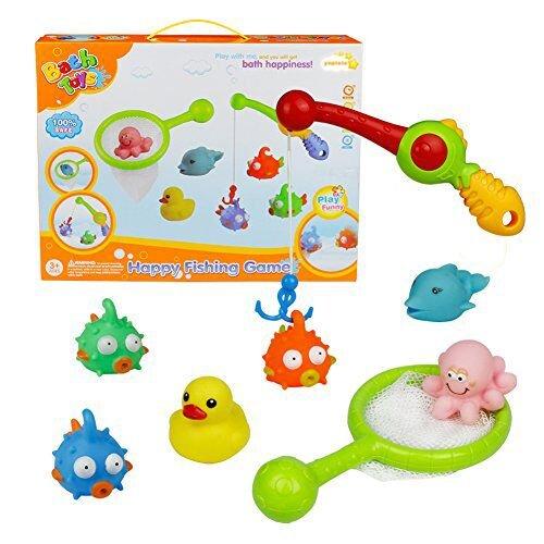 Bad Angeln Spielzeug mit Schwimmenden Fisch Badespaß Zeit Großes Geschenk für Frühe (Style A)