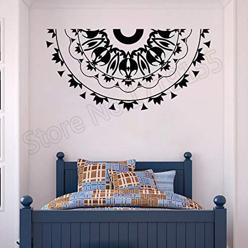 zhuziji Mandala Room Decoration Mandala Flower Wall Decal Home Decoration Wall Stickers for Living Room Vinyl Art Pattern Sticke 42x83cm Hibiscus Wal