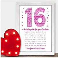 Personalised 13th 16th 18th 21st 30th Birthday Gifts for Her, Girls, Daughter, Sister, Him, Son, Boys, Mum, Dad, Nanny, Grandad, Best Friends - 40th 50th 60th 70th Poem Birthday Keepsake Presents