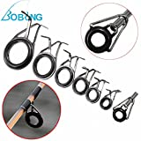#4: Bobing Hot Sale 7Pcs/lot Fishing Rod Pole Guides Tip Rop Repair Kit 0.5-1.8cm Mixed Size Line Rings Eyes
