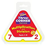 Skill Drill 48-Piece 14 cm Paper Three Corner Flash Cards Multiplication and Division, White