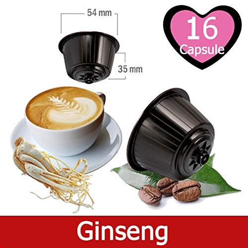 16 Kapseln Nescafé Dolce Gusto Kaffee Kompatibel Ginseng - Hergestellt in Italien - Kickkick Kaffee