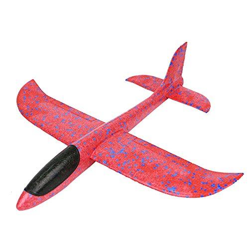 Genossen Kinder Flugzeug Spielzeug Outdoor Wurf Segelflugzeug Glider 35 cm (Rot)