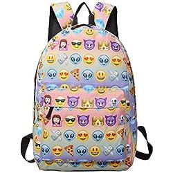 Escuela Mochila, Gracosy School Backpack Mochila Linda Emoji para La Escuela El Trabajo El Deporte Comidas Campestres Al Aire Libre Eventos bolsa de portátil