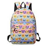 Sac à dos EMOJI, Gracosy Impémeable Super léger 35L Design Smiley Kawaii Backpack...