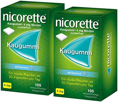 Nicorette Kaugummi 4 mg whitemint 2 x 105 Kaugummis