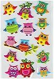 Bestlivings lustige und Niedliche Sticker zum Aufkleben, Stickerbögen mit Tieren, in vielen verschiedenen Motiven verfügbar (Design: Eulen 1)