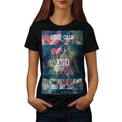 Behalten Ruhig Geschenk Weihnachten Festlich Zeit Damen S T-shirt | (Ruhigen Und Halloween Kostüm Frieden)
