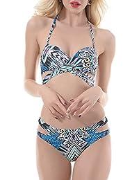 YAYONG Traje De Baño Nuevo Traje De Baño Split Bikini Fashion Prints Women,S