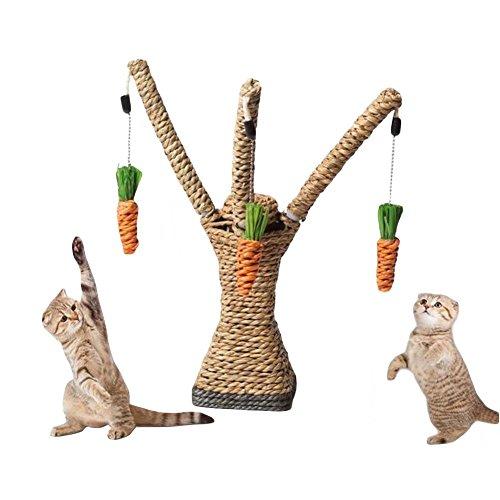 Running Pet Katzen Kratzbaum Spielzeug Aktivitätskratzbäume Natural Sisal Interaktives Spielzeug (Diy Kostüm Einfach Katze)