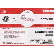 Shuchita Prakashan's Solved Scanner on Business Economics for CS Foundation Paper 3 June 2018 Exam