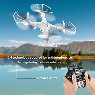 ICOCO RC Quadcopter, 2.4G Drone with 2.0MP Camera FPV Quadcopter with One Key Return Headless Mode for Beginners Kids Training