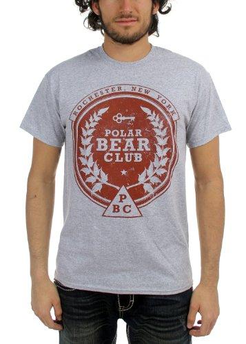 Polar Bear Club - - Herren Crest T-Shirt, Small, Black (Polar Bear Club-shirt)