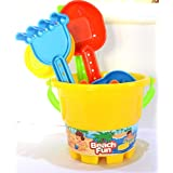 Happy Holidays Complete Garden and Beach Set of 7 Pieces for Boys-Bright Yellow.