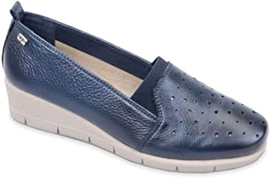Valleverde V66176 Mocassini Scarpe Slip-on Donna in Pelle Blu