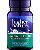 Higher Nature Omega 3 Fish Oil – Omega 3 Cápsulas de aceite de pescado - 90 caps