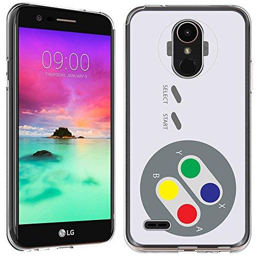 LG Stylo 3Fall-(Crystal Clear) paletteshield Weiche Biegsame TPU Gel Haut Phone Cover (Passgenau LG Stylo 3/Stylus 3) Designs Gamer, IM028 -