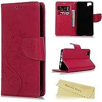 bq Aquaris M5 Funda Libro de Suave PU Leather Cuero Impresión - Maviss Diary Carcasa Con